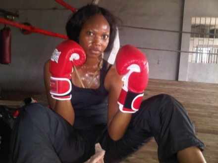 Ghanaian Actress Leonora Okine Turn Boxer
