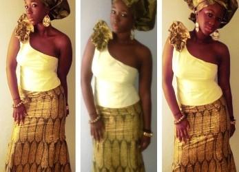 Ama K. Abebrese goes Ntoma & Gele