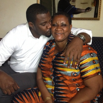 John Dumelo shows off his pretty mum