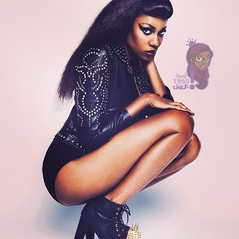 Yvonne Nelson in Leather & Spiked Boots�Are You Feelin� Her Look