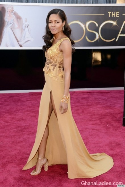 Ghanaian Designer�s Outfit Hits Oscars Red Carpet On Hollywood Actress Naomie Harris