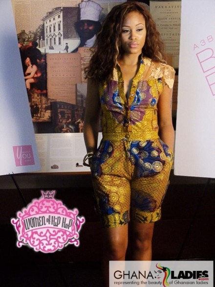 RAPPER EVE IN AN AFRICAN PRINT