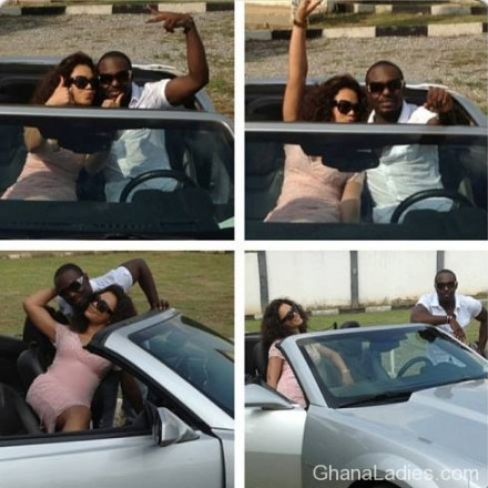 Actress Nadia Buhari and Jim Iyke Playing Love