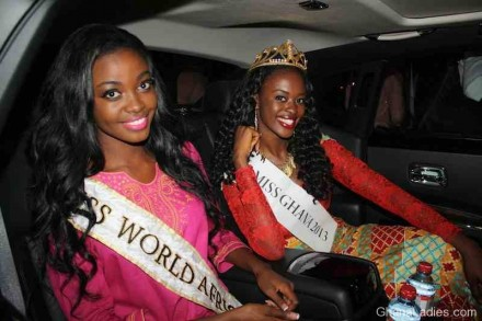 PHOTOS: Naa Okailey Shooter arrives from Miss World to HUGE Welcome