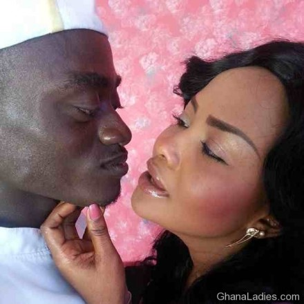 PHOTO: Lil Win and Nana Ama McBrown Kissing On Set?