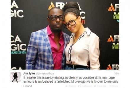 TROUBLE? NADIA BUARI DELETES ALL PHOTOS OF JIM IYKE