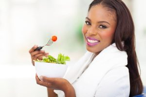 http://www.dreamstime.com/royalty-free-stock-image-african-american-woman-green-salad-attractive-eating-fresh-home-image33777986
