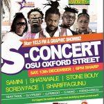"Samini, Stonebwoy, Screw Face , Sherifa Gunu and more for Starr 103.5 FM's ""S Concert"